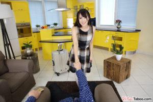 jap cosplay teen in virtual reality